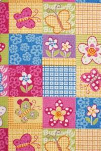 Farebný detský rezaný koberec Butterfly 57