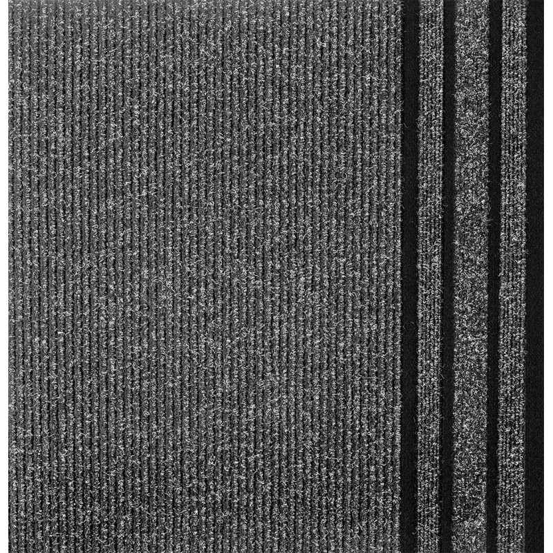 Sivá metrážna rohožka Kinetic 802