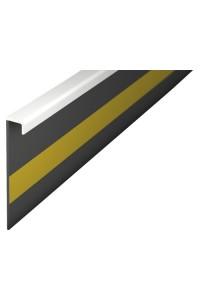 Kobercová soklová lišta 42222 2,5m biela