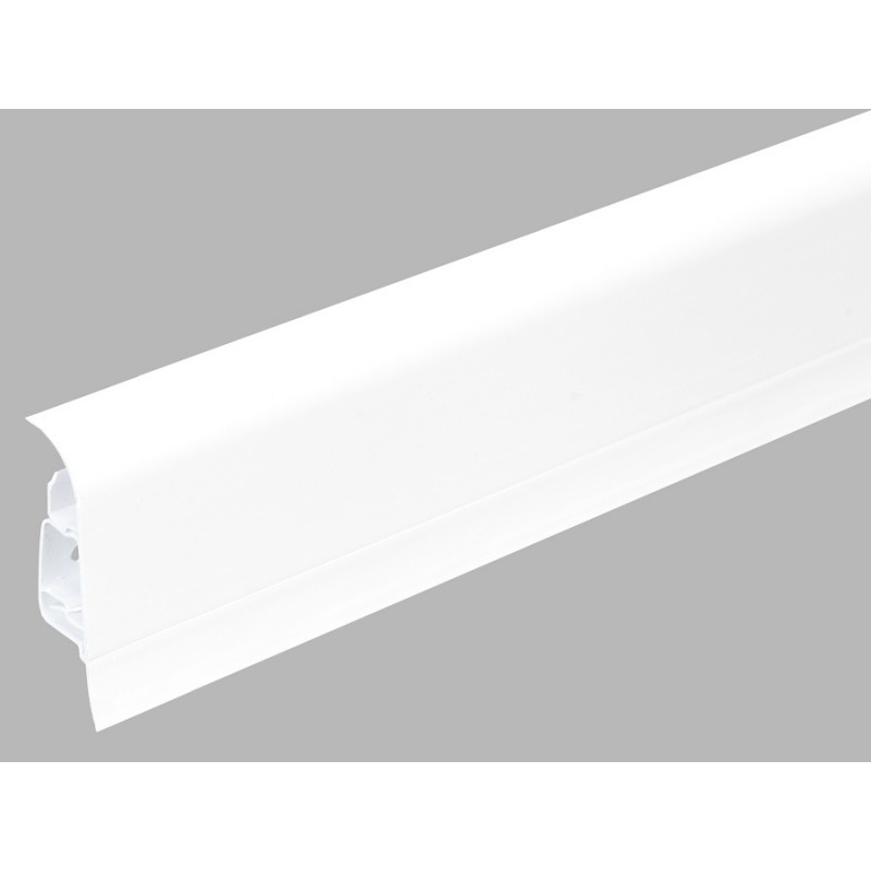 Plastová soklová lišta Bolta 5cm biela