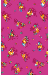 Funny bear 66 ružová