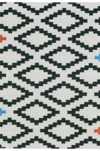 Bielo-čierny koberec Tulsa 19318 836