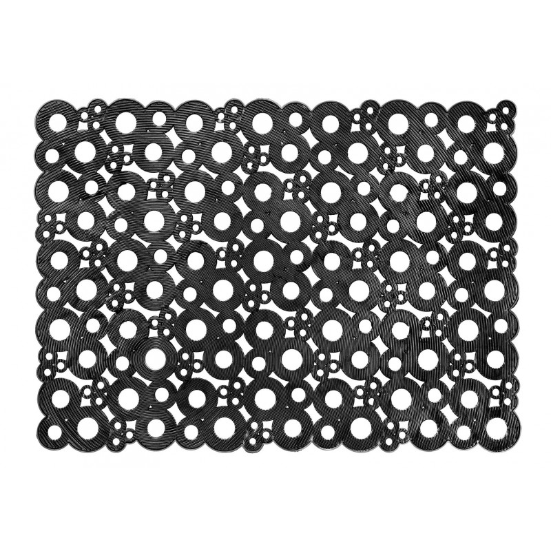 Unikátna rohož do exteriéru Bubbles black 007