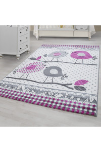 Detský koberec Kids 520 sivý