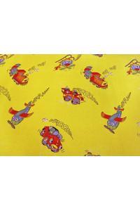Žltý detský koberec Travel 50