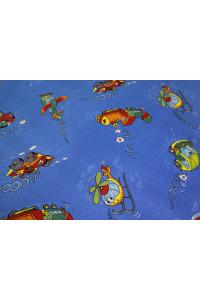 Detský meraný koberec Travel 74 modrý